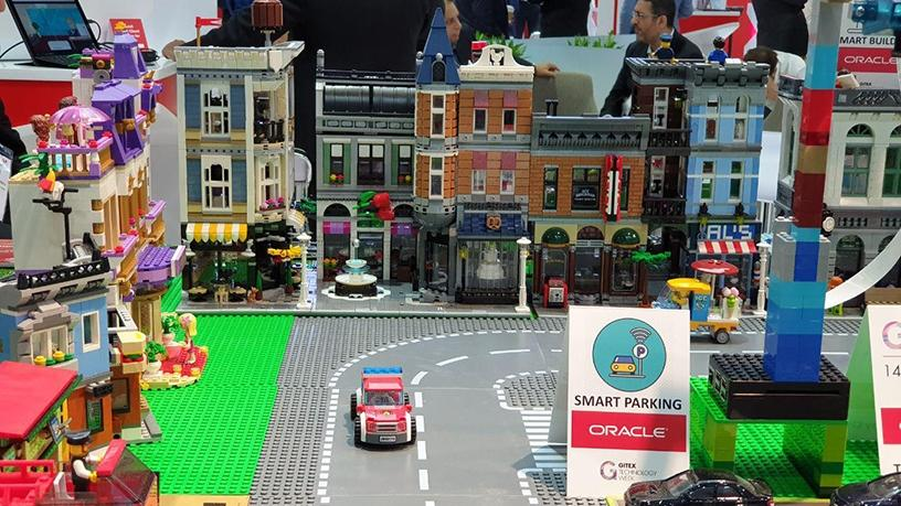 Oracle has Dubai's plans for a 'happy city' on display, created in Lego.