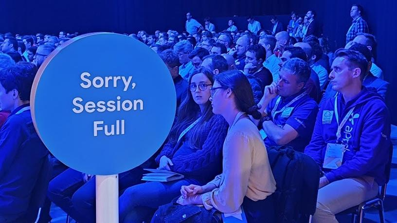 There were 125 breakout sessions at the Google Cloud Next conference, with some auditoriums filling to capacity.