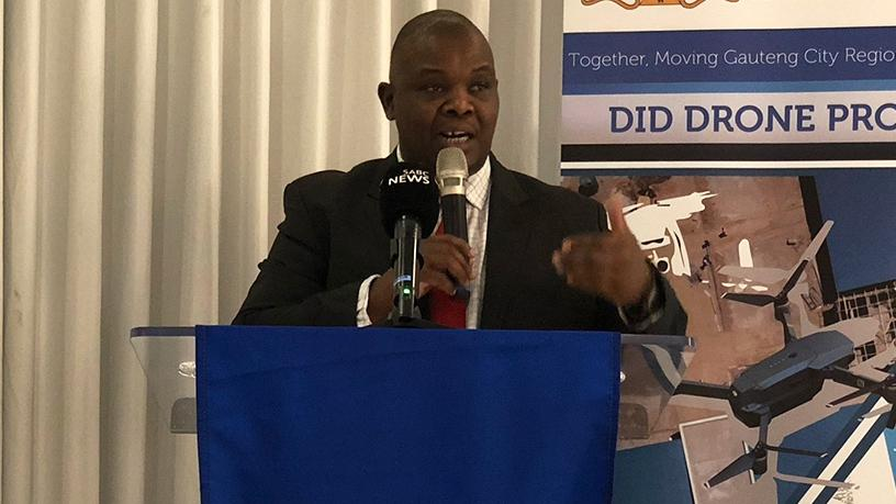 MEC Jacob Mamabolo says using drones can address cost and quality issues in infrastructure. (Photo source: SAGov News)