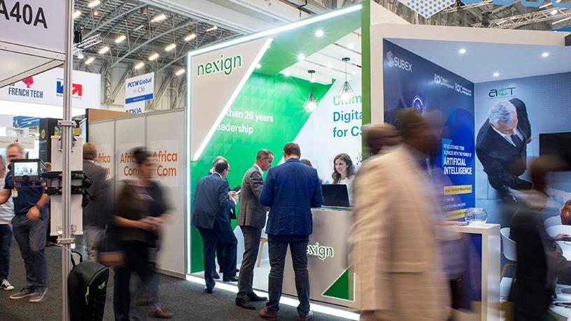 The Nexign booth at AfricaCom 2018.