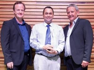 Stephen Faure, General Manager at the VCS Xerox Department. Craig Schweitzer, Divisional Director of Altron Rest of Africa. Johan Basson, MD of Altron BDS.