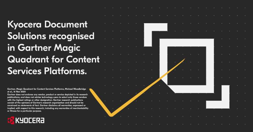 Kyocera Document Solutions recognised in Gartner Magic Quadrant for Content  Services Platforms | ITWeb